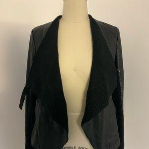 BB Dakota Moto Jacket with Knit Details